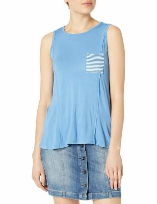Self Esteem Women's Chute Blue Swing Top with Front Pocket XL