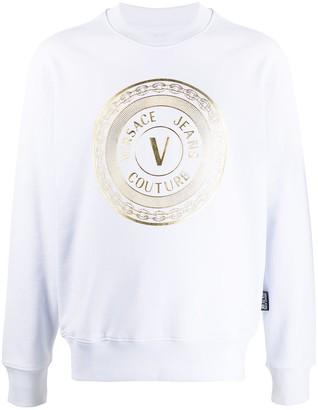 Versace Logo Print Sweatshirt