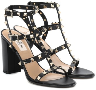 Valentino Rockstud leather sandals