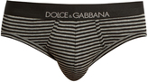 Dolce & Gabbana Striped stretch-cotton briefs
