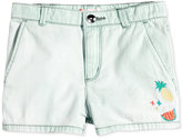 Roxy Edge Of Forever Embroidered Cotton Denim Shorts, Little Girls (2-6X)