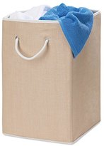 Honey-Can-Do HMP-01453 Sturdy Resin Hamper with Rope Handles, Natural, 1-Bin