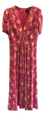 Saloni Pink Silk Dress for Women