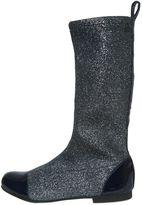 Pom D'Api Glitter Neoprene & Patent Leather Boots
