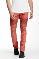 Rogue Leather Trim Moto Jeans