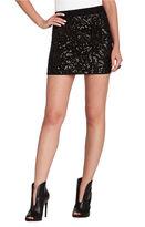 Paxton Deco Sequin Appliqued Mini Skirt