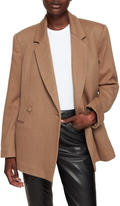 Anine Bing Kaia Double Breasted Wool Blazer