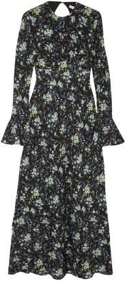 Les Rêveries Open-back Floral-print Silk Crepe De Chine Maxi Dress