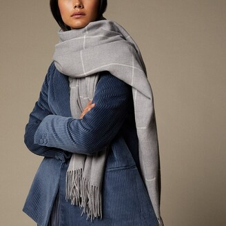 Love & Lore Love And Lore Supersoft Scarf Heather Grey Windowpane