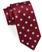 Black Brown 1826 Classic Floral Print Tie
