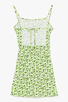 Nasty Gal Womens Cami Here for Love Floral Mini Dress - Apple Green