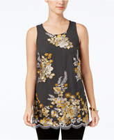 Charter Club Embroidered Tank Top, Created for Macy's