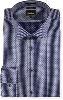 Neiman Marcus Extra Trim-Fit Jacquard Dress Shirt