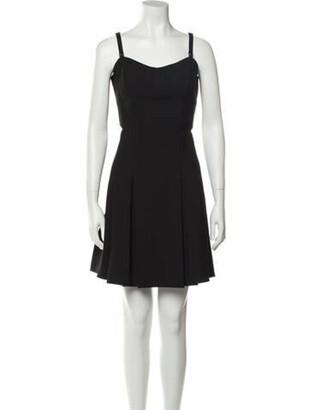 Elizabeth and James Square Neckline Mini Dress Black