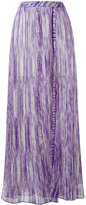 Missoni ribbed detail flared skirt - women - Rayon - 40