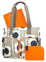 Orla Kiely Diaper Bag Tote - Tan Large Floral Print by orla