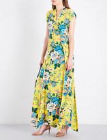 Diane von Furstenberg Floral bias-cut silk maxi dress