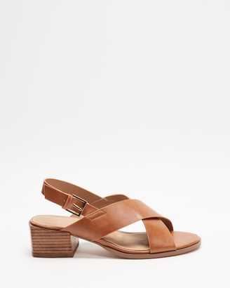 Spurr Women's Brown Strappy sandals - Anise Comfort Heels - Size 5 at The Iconic
