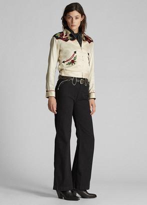 Ralph Lauren Mid-Rise Flare Western Pant
