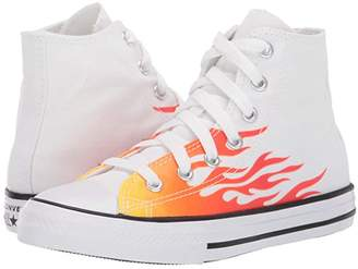 Converse Chuck Taylor(r) All Star(r) Archive Flame - Hi (Little Kid) (White/Enamel Red/Fresh Yellow) Boys Shoes
