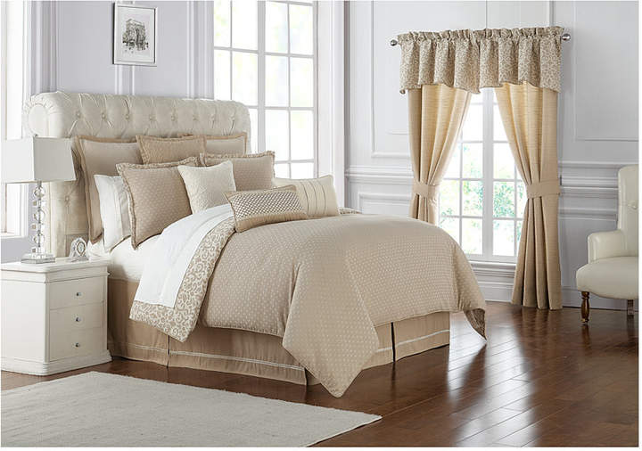Waterford Charlize Reversible 3-Pc. Gold California King Comforter Set