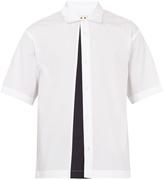 Marni Colour-block short-sleeved cotton shirt