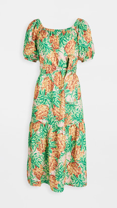 Farm Rio Pineapple Garden Linen Dress