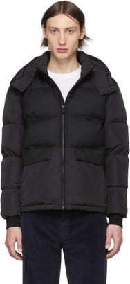 Ermenegildo Zegna Black Down Short Puffer Jacket