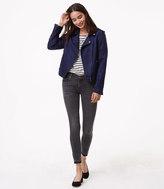 LOFT Modern Unpicked Skinny Jeans in Grey Stonewash