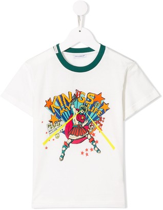 Dolce & Gabbana Kids cartoon graphic print T-shirt