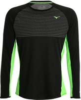 Mizuno Long Sleeved Top Black/green Gecko