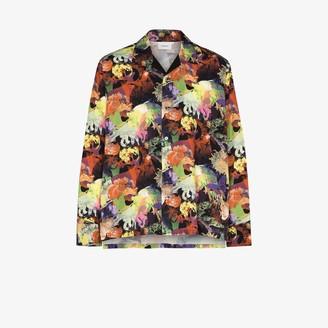Iroquois Hanafuda printed button-up shirt