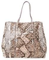 Alaia Python Perforated Shopper Tote w/ Tags