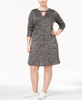 ING Trendy Plus Size Cutout Dress