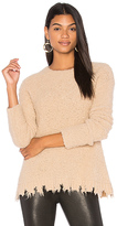 ATM Anthony Thomas Melillo Alpaca Crew Neck Sweater in Tan. - size L (also in M,S,XS)