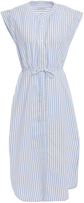 Joie Striped Cotton-broadcloth Dress