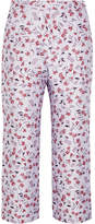 Altuzarra Nettle Cropped Floral-jacquard Flared Pants - Lilac