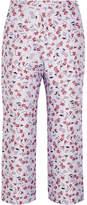 Altuzarra Nettle Cropped Floral-jacquard Flared Pants