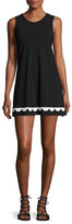 Karla Colletto Fiorenza Round-Neck Shift Dress