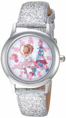 Disney Girls Fancy Nancy Stainless Steel Analog-Quartz Watch with Leather Strap