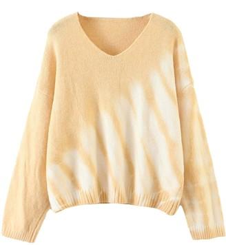 Goodnight Macaroon 'Joanna' V-neck Tie Dye Sweater (3 Colors)