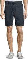 John Varvatos Flap-Pocket Cotton Shorts, Dark Indigo
