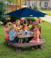 Little Tikes Fold 'n Store Picnic Table with Market Umbrella