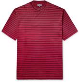 Lanvin - Striped Cotton-jersey Mock-neck T-shirt
