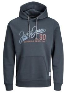 Jack and Jones Men's Logo Long Sleeve Sweatshirt Hoodie