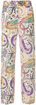 Etro printed high-waisted trousers