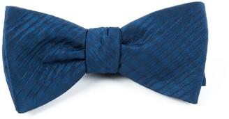 Tie Bar Silk Seersucker Solid Navy Bow Tie