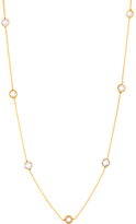 Bliss Gold Station Necklace With Swarovski® Crystal