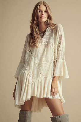 Free People Layered In Lace Swing Dress
