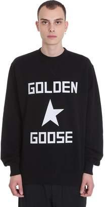 Golden Goose Hisao Sweatshirt In Black Cotton